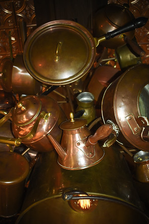 Copper Pot Chandelier