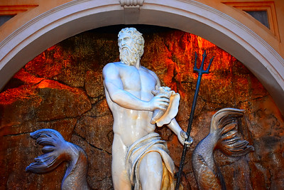 Neptune Sculputre at Epcot