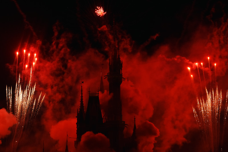 Cinderella's Castle in Smoke and Light