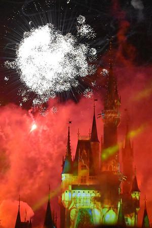 Cinderella's Castle with Fireworks