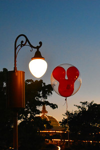 Mickey Balloon at Dusk