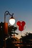 Mickey Balloon at Dusk