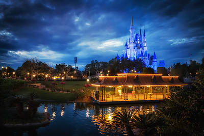 Sunset in the Magic Kingdom