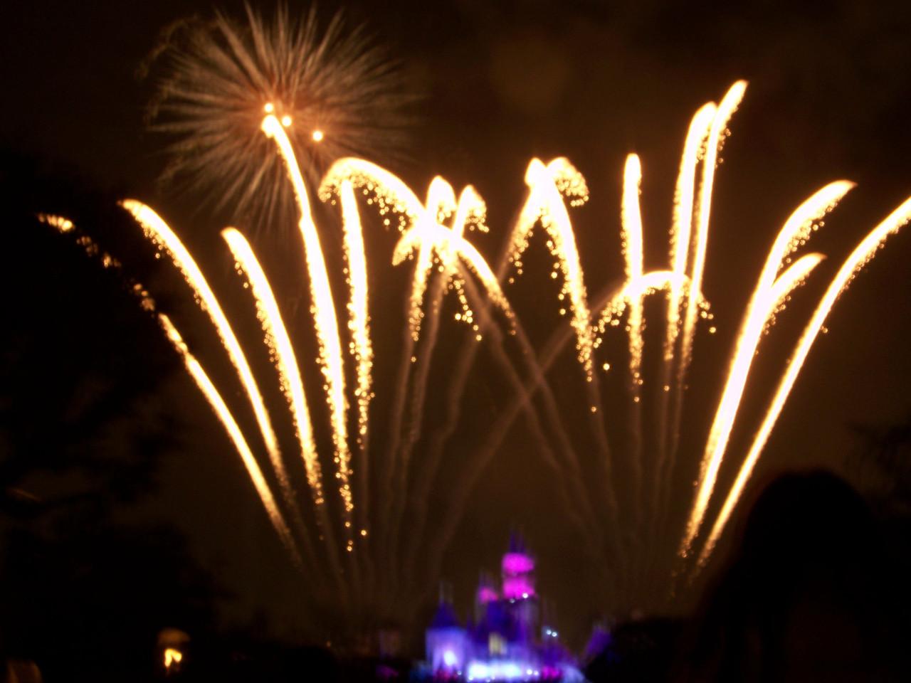 Disneyland - Christmas fireworks