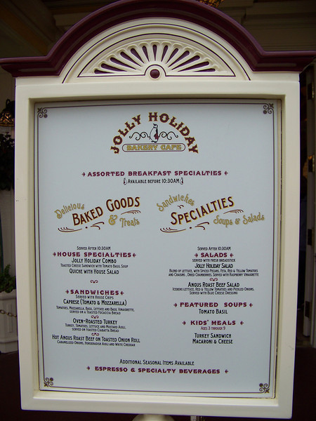 Disneyland - Jolly Holiday Bakery Cafe