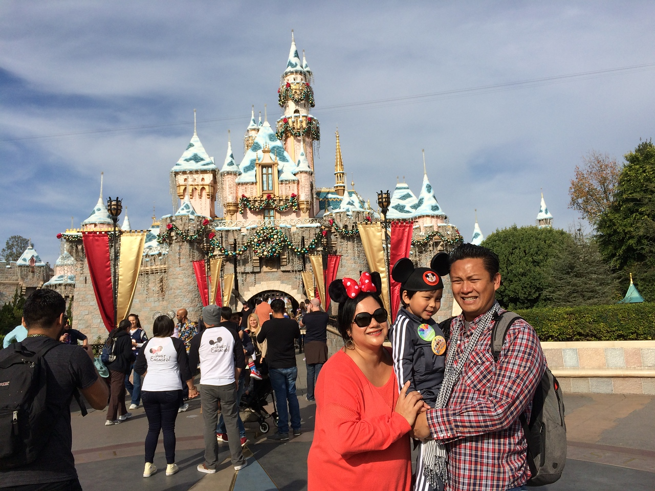In front of Sleeping Beauty Castle.