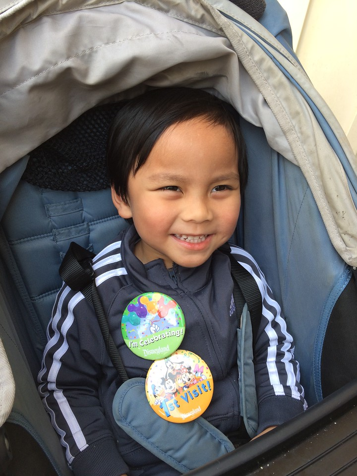 Awe! Dominic got buttons! Yay!