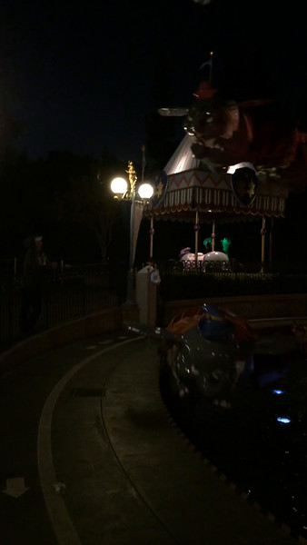 Video at the end of the Dumbo ride!
