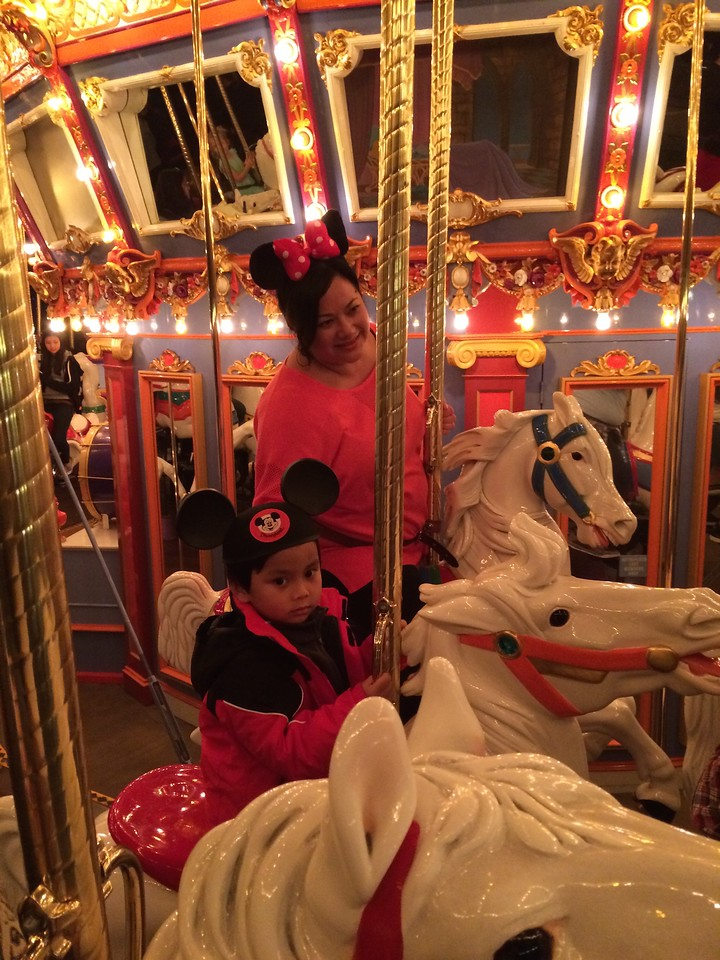 Dominic wanted to go on the merry go around.