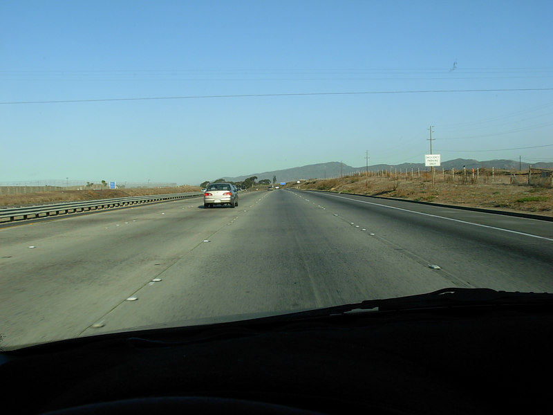 Northbound on the 5 coming up from Oceanside.