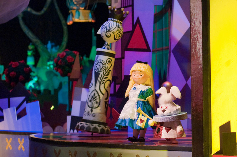 In the Europe room, Alice and the White Rabbit appear.