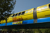 In celebration of the opening of the new Nemo ride, one of the monorail trains was repainted to match the colors of the new submarines.