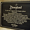 The Disneyland dedication plaque
