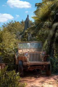 Disneyland Park, Paris, France - Jone's Jeep