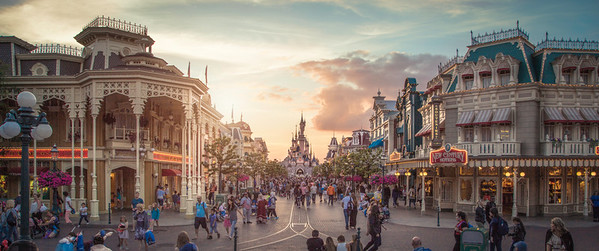 Sunset over Main Street