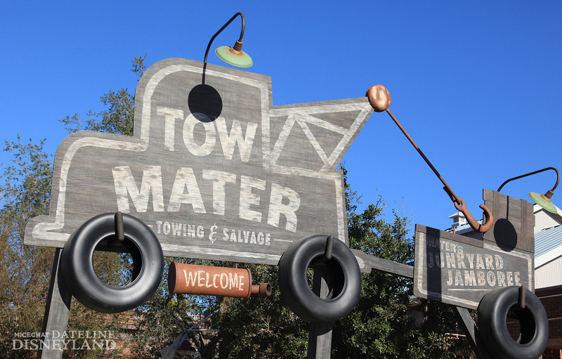 MATER'S JUNKYARD JAMBOREE - Mater has adapted his home to host Mater's Junkyard Jamboree in Cars Land at Disney California Adventure park. Enjoy a tractor-pullin' square dance at Mater's Junkyard Jamboree where you can whip around behind a baby tractor and see the giant jukebox he personally built from his prized possessions! (Paul Hiffmeyer/Disneyland Resort) PHOTO © DISNEY