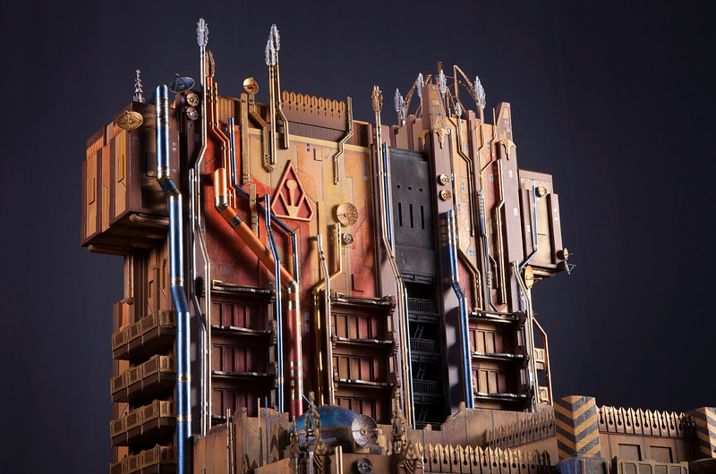Guardians of the Galaxy Ð Mission: BREAKOUT! -- A scale model created by Walt Disney Imagineering shows the exterior of Guardians of the Galaxy Ð Mission: BREAKOUT!, a new attraction at Disney California Adventure park debuting in summer 2017.  Guardians of the Galaxy Ð Mission: BREAKOUT! will take park guests through the fortress-like museum of the mysterious Collector, who is keeping his newest acquisitions, the Guardians of the Galaxy, as prisoners. Guests will board a gantry lift which launches them into a daring adventure as they join Rocket Raccoon in an attempt to set free his fellow Guardians. The new attraction will transform the structure currently housing The Twilight Zone Tower of Terrorª into an epic new adventure, enhancing the breathtaking free fall sensation with new visual and audio effects to create a variety of ride experiences. Guests will experience multiple, random and unique ride profiles in which the rise and fall of the gantry lift rocks to the beat of music inspired by the filmÕs popular soundtrack. (Scott Brinegar/Disneyland Resort)
