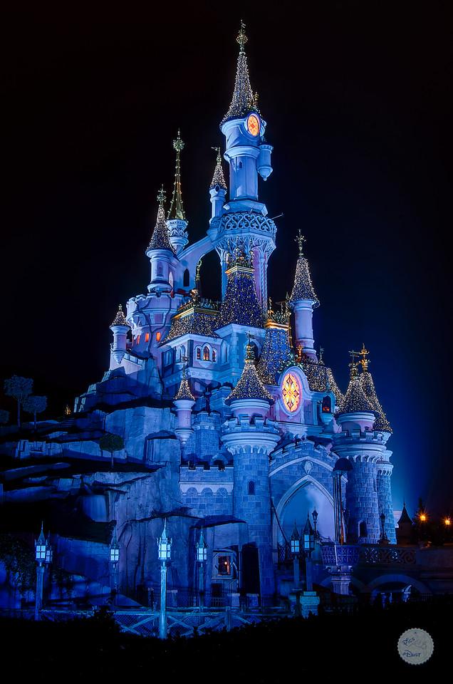 Le chateau dans sa parure d'hiver