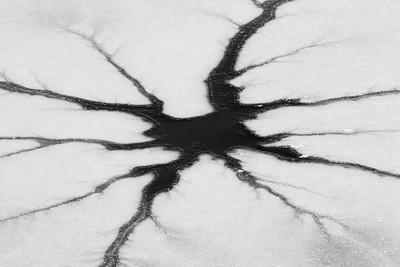 Surface sprites in lake ice, Newport News, VA. © 2013 Kenneth R. Sheide