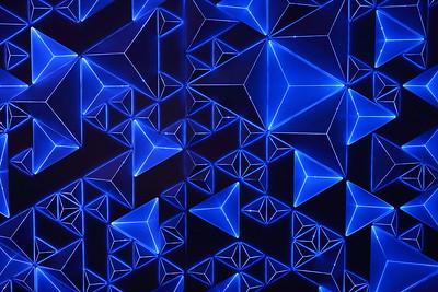 Patterns on wall at Reunion Tower, Dallas, TX. © 2014 Kenneth R. Sheide