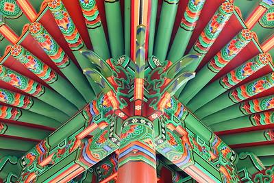 Intricate corner detail of Gwang-Ju Pavilion, San Antonio, TX. © 2013 Kenneth R. Sheide