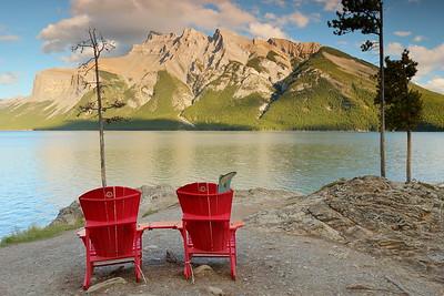 Late afternoon at Lake Minnewanka.  Banff National Park, Alberta, Canada. © 2019 Kenneth R. Sheide