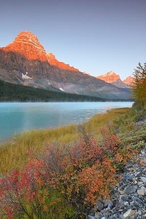Sunrise at Upper Waterfowl Lake, Jasper National Park, Alberta, Canada. © 2019 Kenneth R. Sheide
