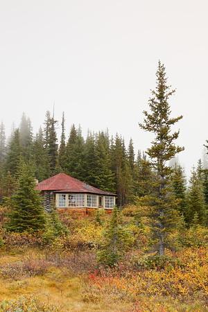 Cabin at Bow Lake, Jasper National Park, Alberta, Canada. © 2019 Kenneth R. Sheide