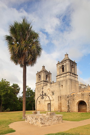 Well in front of Mission Concepcion, San Antonio, TX. © 2013 Kenneth R. Sheide