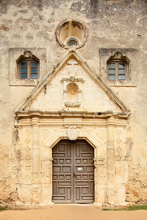 Main entrance to Mission Concepcion, San Antonio, TX. © 2013 Kenneth R. Sheide