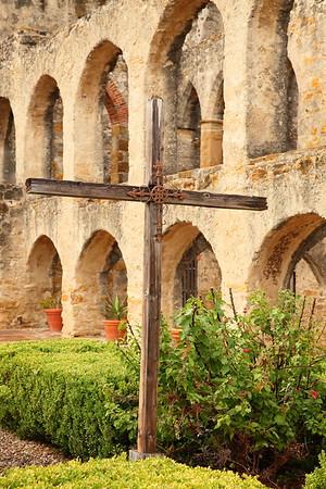 Cross at Mission San Jose, San Antonio, TX. © 2013 Kenneth R. Sheide
