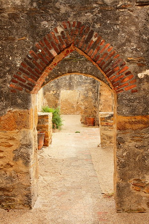 Passages within Mission San Jose, San Antonio, TX. © 2013 Kenneth R. Sheide