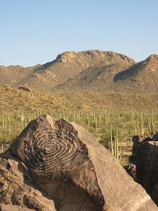 Petroglyph at Signal Hill, Saguaro National Park, AZ. © 2008 Kenneth R. Sheide