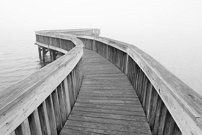 Pier in James River, VA. © 2013 Kenneth R. Sheide