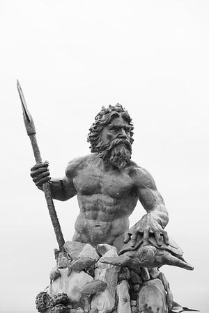 Neptune statue, Virginia Beach, VA. © 2017 Kenneth R. Sheide