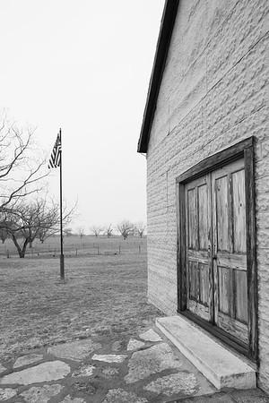 Junction school, where Lydon B. Johnson attended, LBJ National Historic Park, TX. © 2014 Kenneth R. Sheide