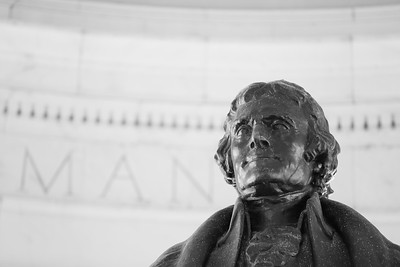 Tommy Jefferson statue at Jefferson Memorial, Washington DC. © 2017 Kenneth R. Sheide