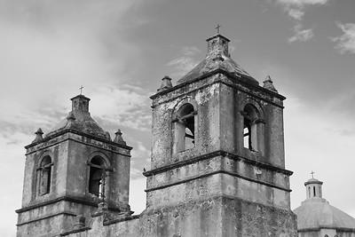 Bell towers of Mission Concepcion, San Antonio, TX. © 2013 Kenneth R. Sheide