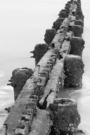 Wood groin at Buckroe Beach, Hampton, VA. © 2013 Kenneth R. Sheide
