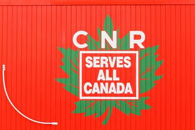 CNR sign on rail car in Duncan, BC. © 2012 Kenneth R. Sheide
