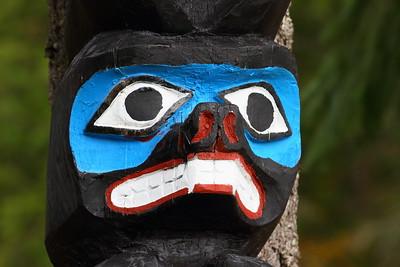 Totem pole detail, BC, Canada. © 2012 Kenneth R. Sheide