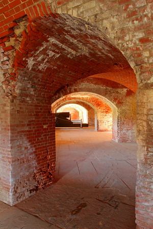 Passageways to canon, Fort Delaware, DE. © 2014 Kenneth R. Sheide