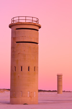 World War 2 military observation towers along the Atlantic Ocean in Rehoboth Beach, DE. © 2011 Kenneth R. Sheide
