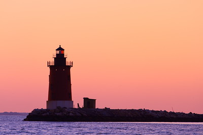 The Deleware Breakwater East End Lighthouse at dusk. Cape Henlopen, DE. © 2011 Kenneth R. Sheide
