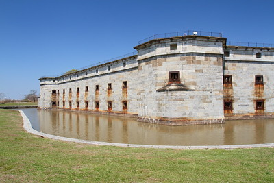 Front wall of Fort Delaware, DE. © 2014 Kenneth R. Sheide