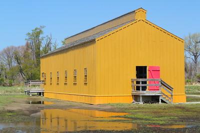 Reconstructed Civil War prison barracks at Fort Delaware, DE. © 2014 Kenneth R. Sheide