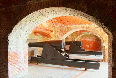 Canon inside Fort Delaware, DE. © 2014 Kenneth R. Sheide