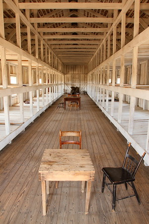 Inside reconstructed Civil War prisoner barracks, Fort Delaware, DE. © 2014 Kenneth R. Sheide