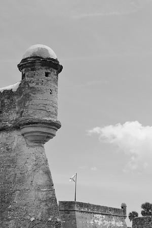 Sentry boxes at points of bastions. Castillo de San Marcos, St Augustine, FL. © 2021 Kenneth R. Sheide