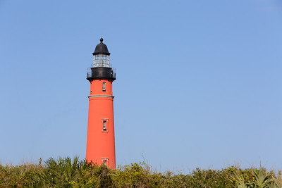 Ponce de Leon (formerly Mosquito) Inlet Lighthouse in morning light. Ponce Inlet, FL. © 2021 Kenneth R. Sheide